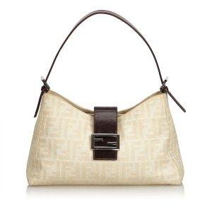Fendi Zucca Canvas Shoulder Bag