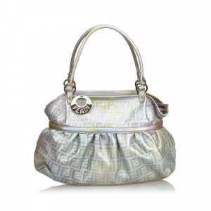 Fendi Zucca Chef Metallic Leather Handbag