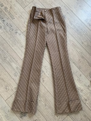 Fendi Marlene Trousers beige mixture fibre