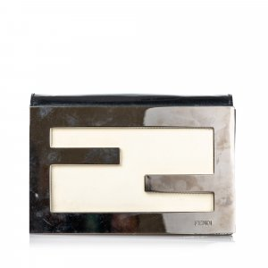 Fendi Zucca Leather Clutch Bag