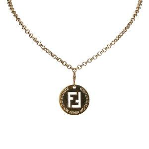 Fendi Zucca Pendant Necklace