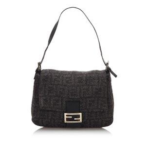 Fendi Zucca Wool Mamma Forever Shoulder Bag