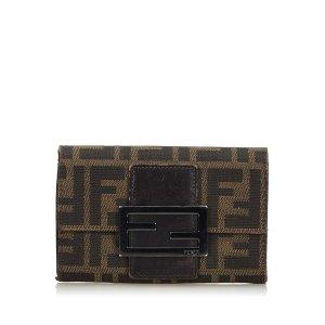 Fendi Zucchino Canvas Small Wallet