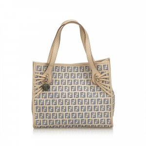 Fendi Zucchino Canvas Tote Bag