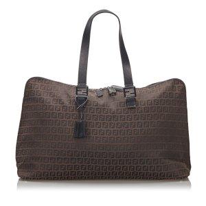 Fendi Zucchino Canvas Travel Bag