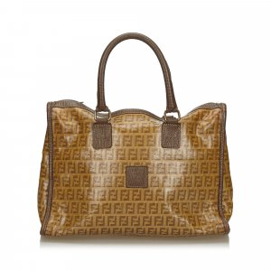 Fendi Zucchino Coated Canvas Handbag