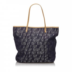 Fendi Tote blue cotton