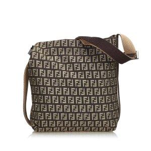 Fendi Zucchino Jacquard Crossbody Bag