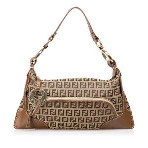 Fendi Zucchino Jacquard Handbag