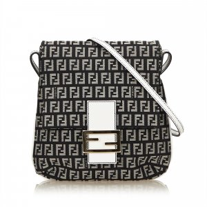 Fendi Zucchino Jacquard Shoulder Bag