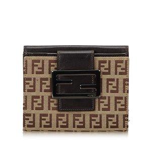 Fendi Zucchino Jacquard Small Wallet