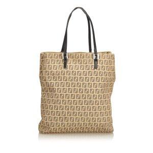 Fendi Zucchino Jacquard Tote Bag