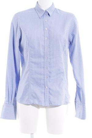 Fenn Wright Manson Camisa de manga larga azul claro-blanco estampado a rayas