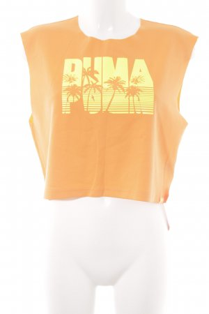 Fenty Puma by Rihanna Cropped Top orange Schriftzug gedruckt Casual-Look