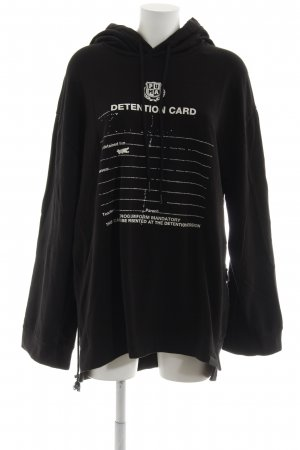 Fenty Puma by Rihanna Kapuzenpullover schwarz-weiß Schriftzug gedruckt