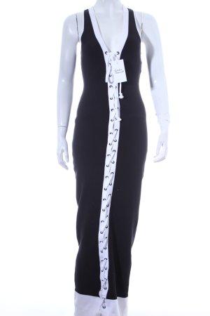 Fenty Puma by Rihanna Strickkleid schwarz-weiß extravaganter Stil
