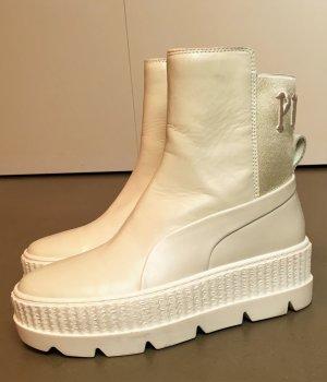 * FENTY X PUMA RIHANNA * PLATEAU BOOTIES SENAKER off white creme Leder Gr 37