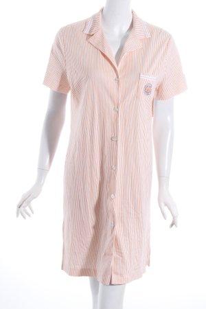 Féraud Blusenkleid weiß-orange Streifenmuster Casual-Look