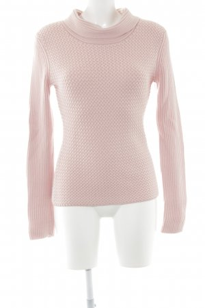 Féraud Strickpullover rosa Zopfmuster Casual-Look