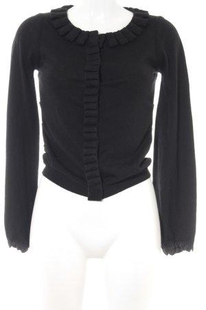 Féraud Gebreid vest zwart zakelijke stijl