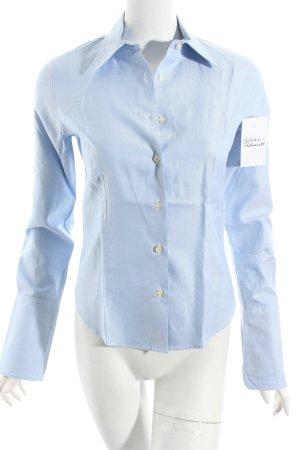 Ferdinand Greiner Langarmhemd himmelblau meliert klassischer Stil