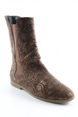 Fernando Pensato Short Boots brown abstract pattern Boho look