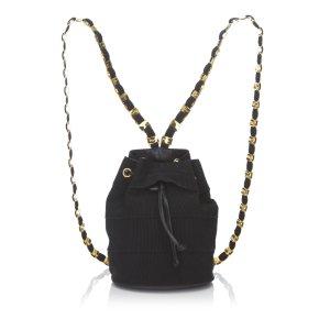 Ferragamo Chemical Fiber Vara Chain Backpack