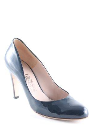 Ferragamo High Heels dunkelblau Elegant