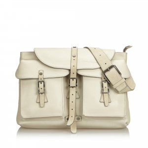 Ferragamo Backpack white leather