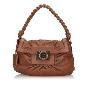 Ferragamo Leather Gancini Shoulder Bag