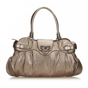 Ferragamo Leather Marisa Shoulder Bag