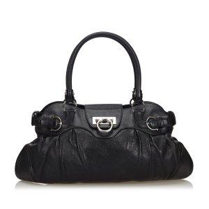 Ferragamo Leather Marisa Shoulder Bag