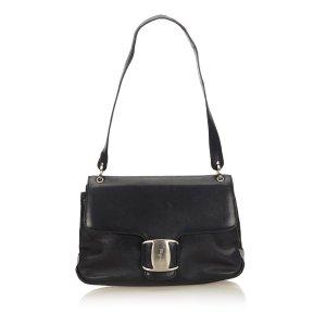 Ferragamo Leather Vara Shoulder Bag