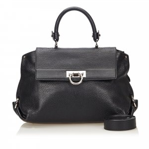 Ferragamo Satchel black leather