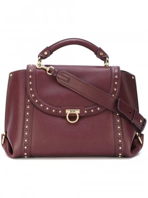 Ferragamo Medium Studded Leather Sofia Satchel