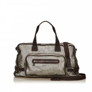Ferragamo Metallic Duffel Bag