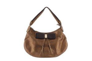 Ferragamo Metallic Leather Vara Shoulder Bag