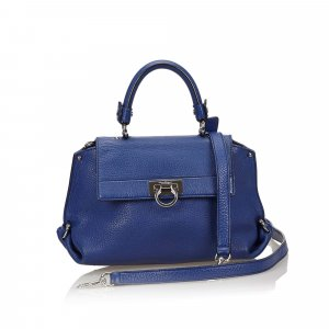 Ferragamo Satchel blue leather