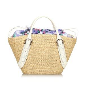 Ferragamo Raffia Beach Tote Bag