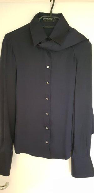 Salvatore ferragamo Silk Blouse dark blue