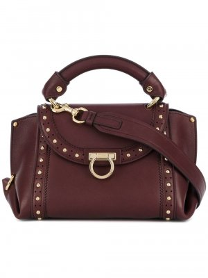 Ferragamo Small Studded Leather Sofia Satchel