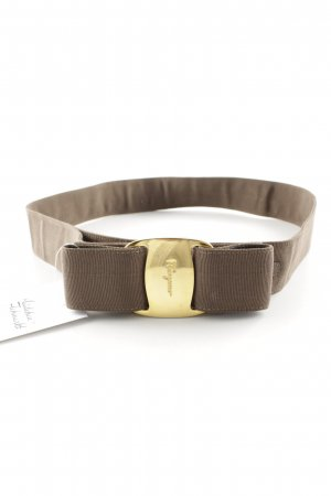 Ferragamo Fabric Belt olive green casual look