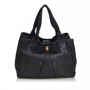 Ferragamo Vara Leather Bow Hobo Bag