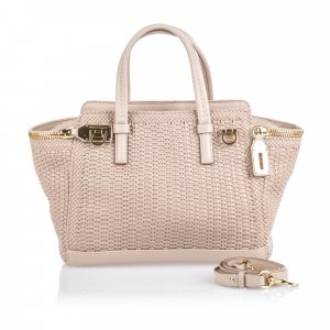 Ferragamo Woven Leather Verve Satchel
