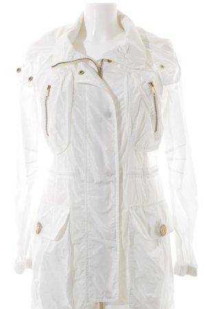 Ferré Milano Übergangsjacke weiß-goldfarben Casual-Look