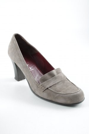 Ferri Italia Hochfront-Pumps graubraun Casual-Look