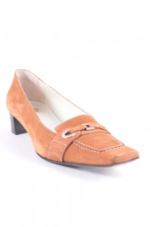 Ferri Italia Pumps cognac Business-Look