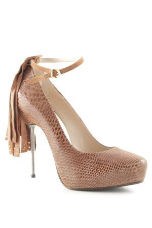 Fersengold High Heels braun Elegant