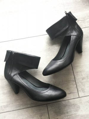 Fessel-Pumps - echtes Leder - Gr. 42 - schwarz
