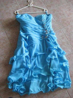 Ball Dress neon blue spandex